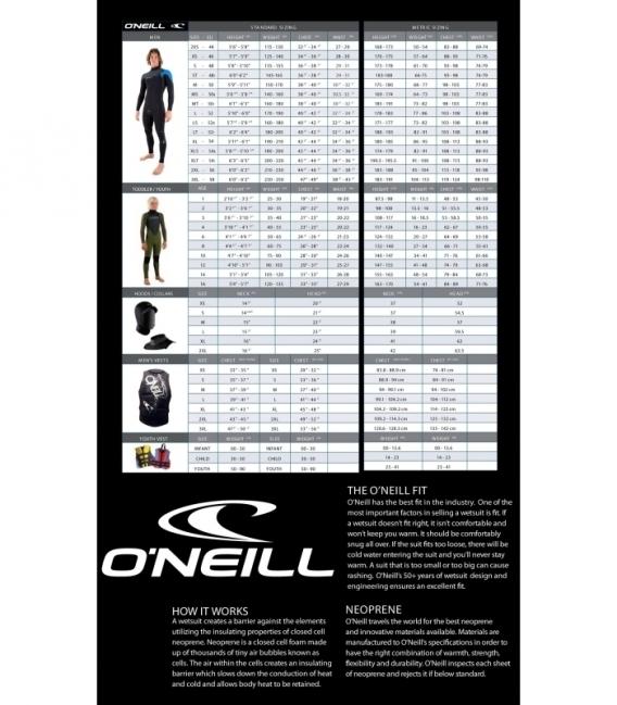 O'NEILL Neoprén Hammer BZ 3/2 Full BLK/BRTBLU/DGLO - XL