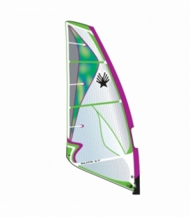 EZZY SAILS Plachta Elite PURPLE/GREEN 6,1 (2016) - JAZDENÁ
