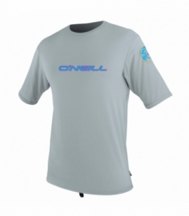 O'NEILL Lycra Skins Graphic S/S Rash Cool Grey L