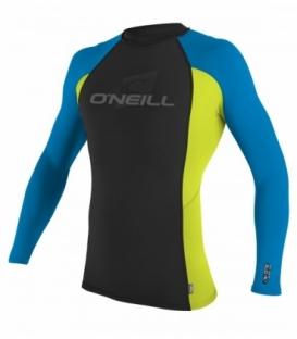 O'NEILL Lycra Skins L/S Crew Black/Lime/Brite Blue M
