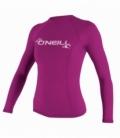 O'NEILL Lycra Wms Basic Skins L/S Rash Fox Pink L