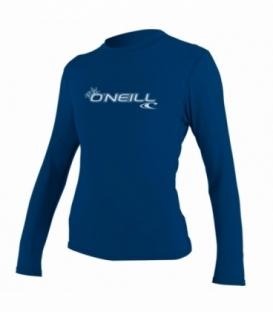 O'NEILL Lycra Wms Basic Skins L/S Rash Tee Deep Sea L