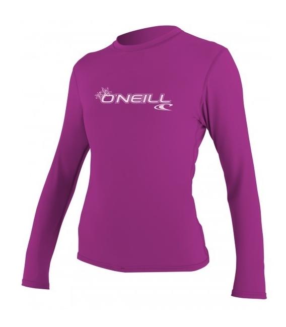 O'NEILL Lycra Wms Basic Skins L/S Rash Tee Fox Pink L