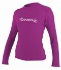 O'NEILL Lycra Wms Basic Skins L/S Rash Tee Fox Pink S