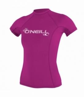 O'NEILL Lycra Wms Basic Skins S/S Crew Fox Pink S