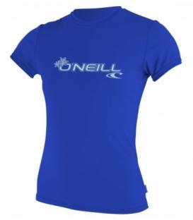O'NEILL Lycra Wms Basic Skins S/S Rash Tee Deep Sea L