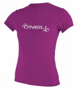 O'NEILL Lycra Wms Basic Skins S/S Rash Tee Fox Pink S