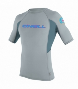 O'NEILL Lycra Skins Graphic S/S Crew Cool Grey/Dusty Blue/Cool Grey L