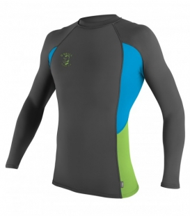 O'NEILL Lycra Skins Graphic L/S Crew Graphite/Sky/Dayglo Xl